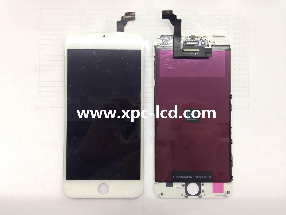 For Iphone 6 plus LCD touch screen White