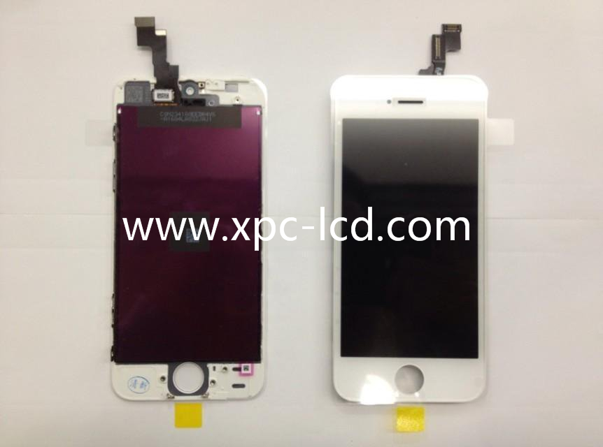 For Iphone 5S LCD touch screen White