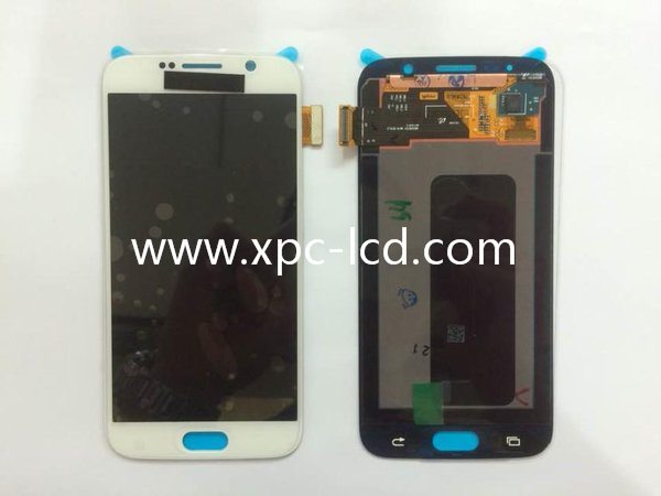 For Samsung S6 LCD touch screen White