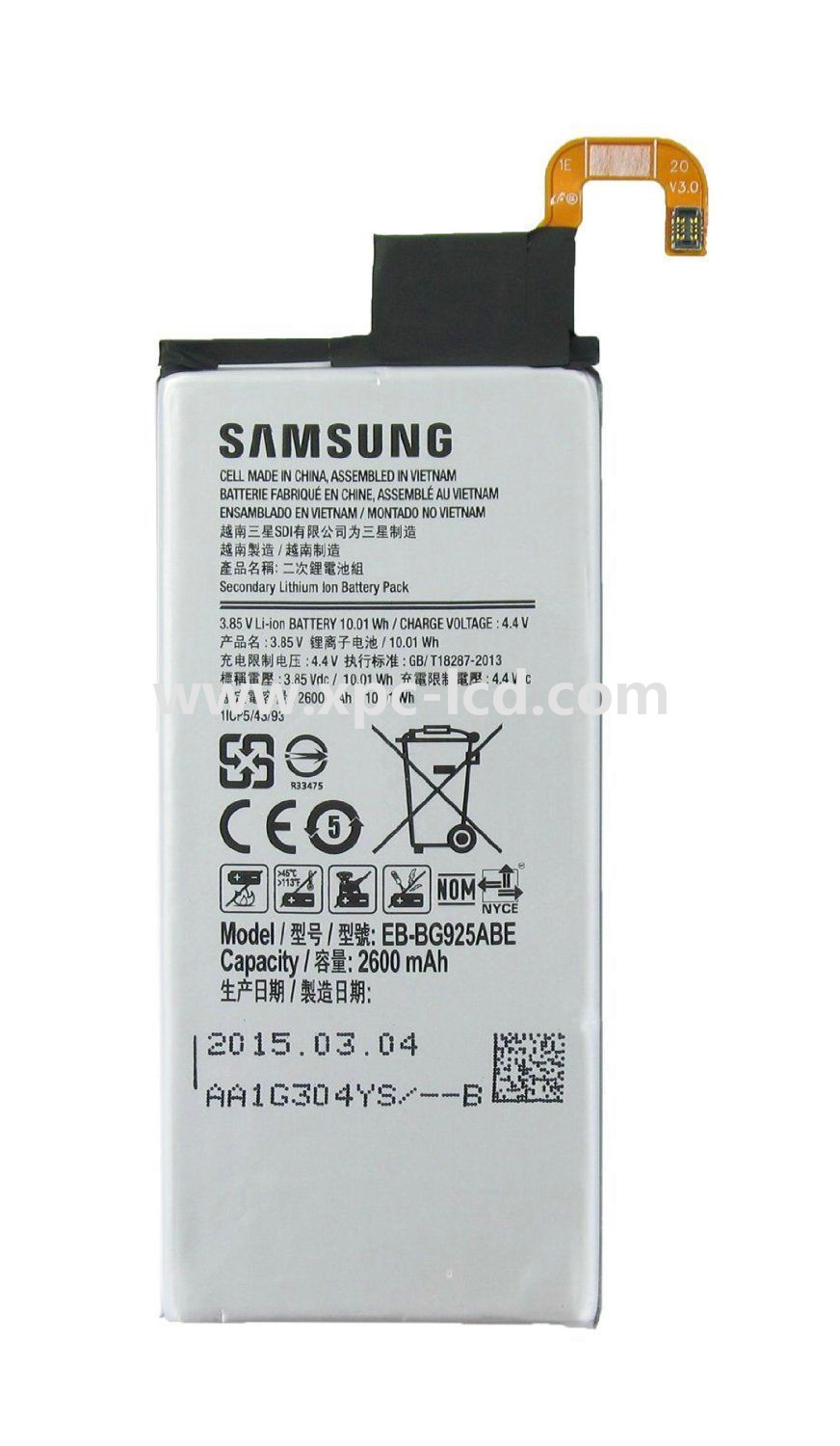 Mobile phone for Samsung Galaxy S6 edge Battery