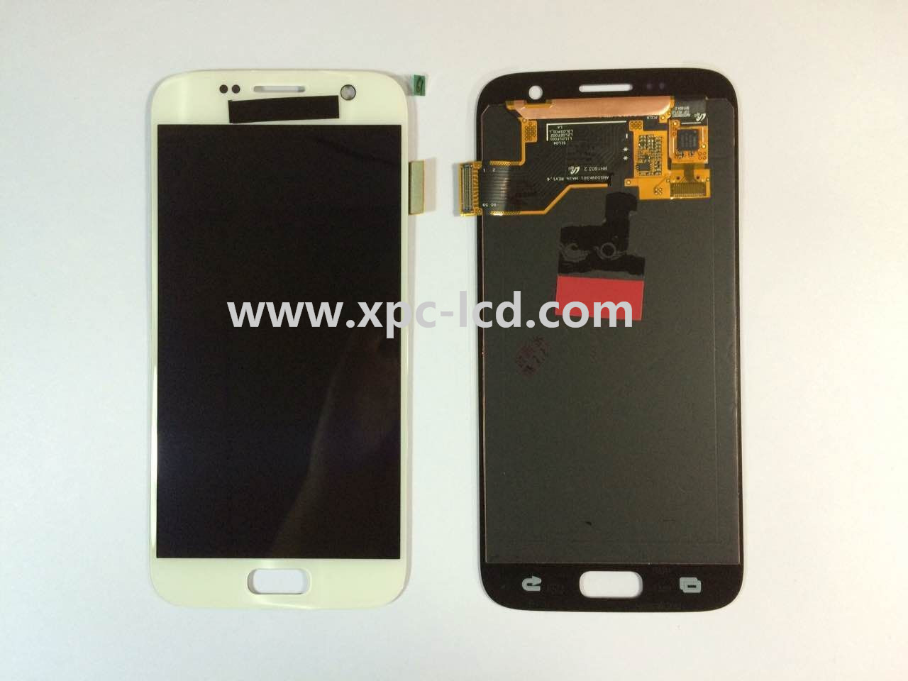 For Samsung S7 LCD touch screen White