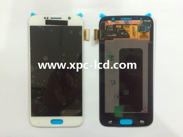 For Samsung Galaxy S6 SM-G920 LCD touch screen White