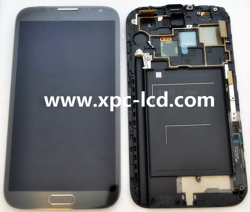 For Samsung Note 2 N7100  LCD touch screen Grey