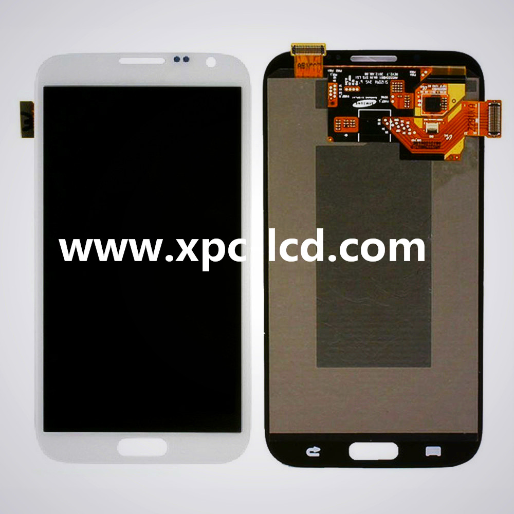 For Samsung Note 2 N7100 LCD touch screen White