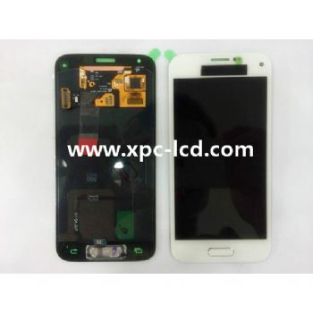 For Samsung S5mini G800F LCD touch screen White