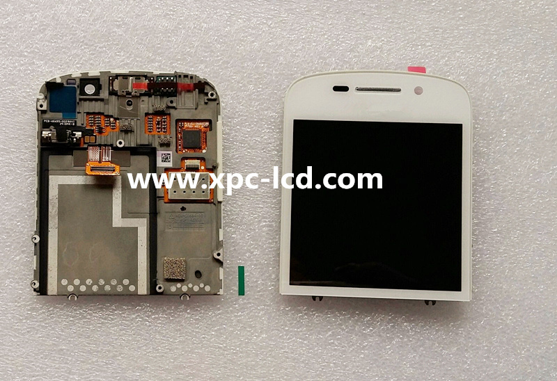 For Blackberry Q10 LCD touch screen White