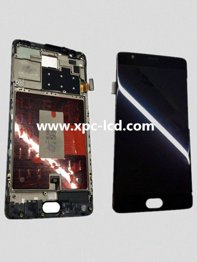 For One Plus Three T LCD touch screen Black