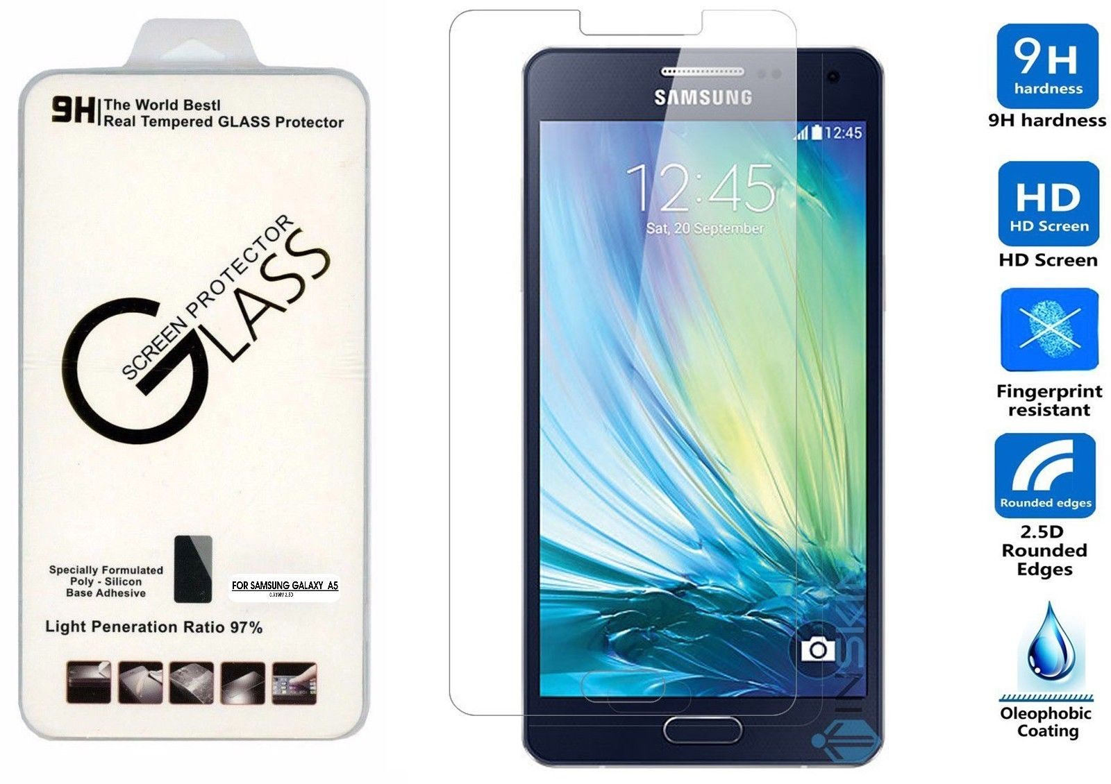 Tempered glass for Samsung A5 A5000