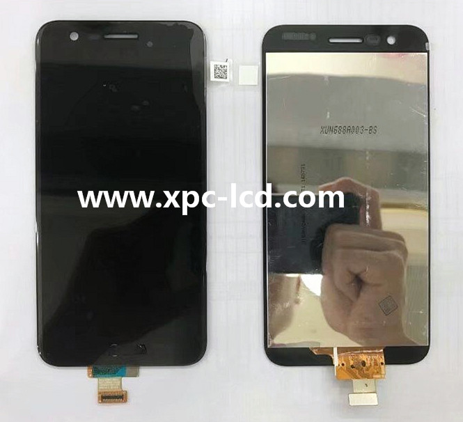 For LG K10 2017 version LCD screen with touch Black