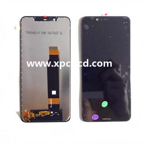 High quality Nokia 5.1 plus LCD with touch Black